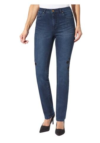 Creation L Jeans mit Stickerei und Nieten kaufen