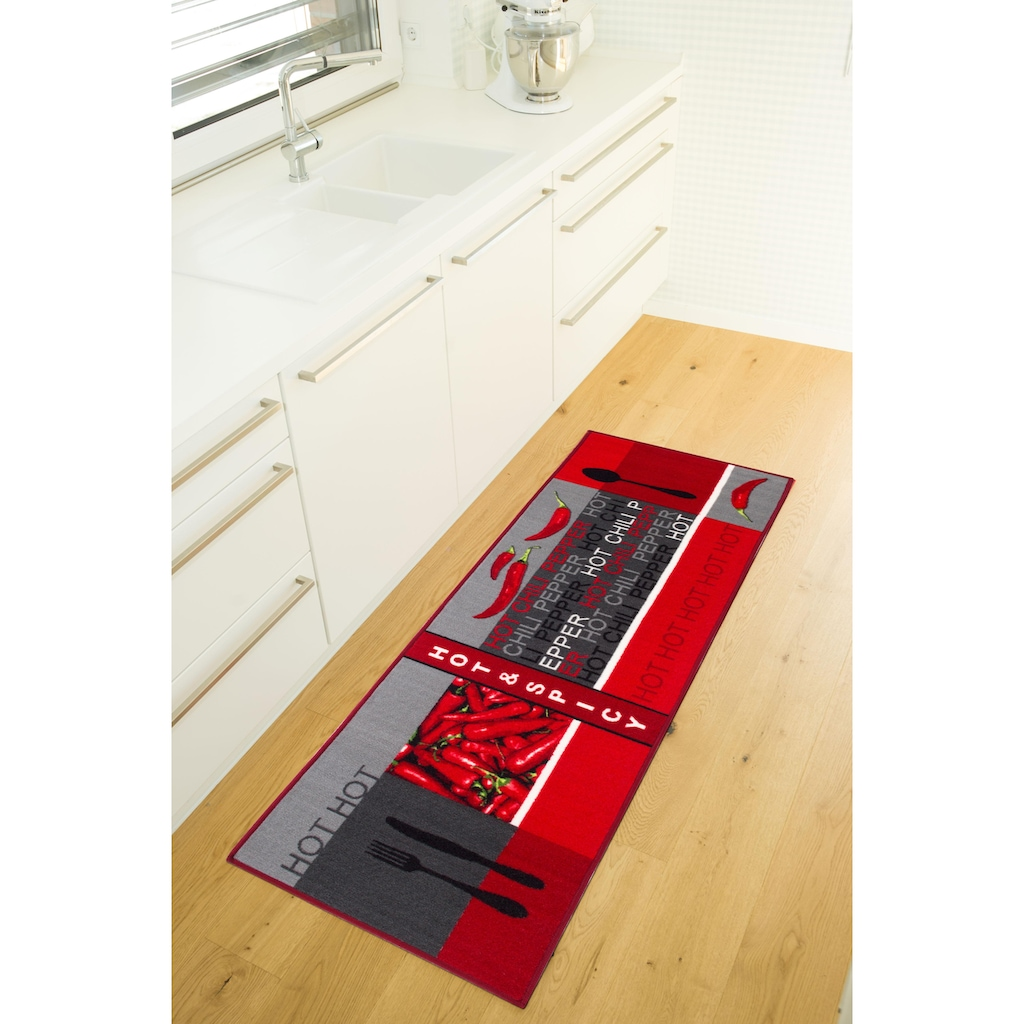 Andiamo Küchenläufer »Hot Pepper«, rechteckig, 5 mm Höhe
