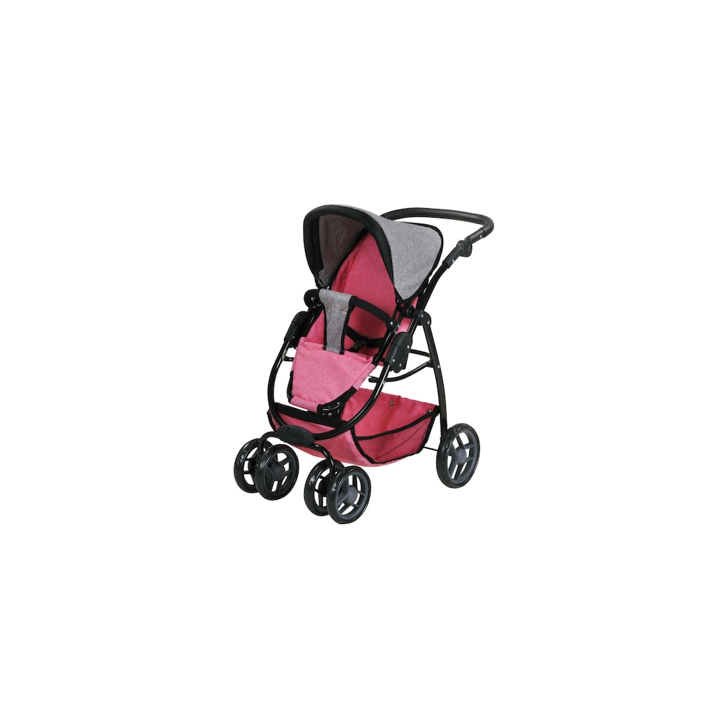 Knorrtoys® Puppenwagen »Coco jeans grey«, 2-in-1