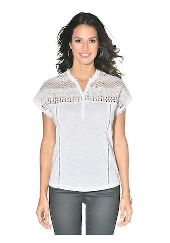 Inspirationen Shirt mit Spitze im Schulterbereich kaufen