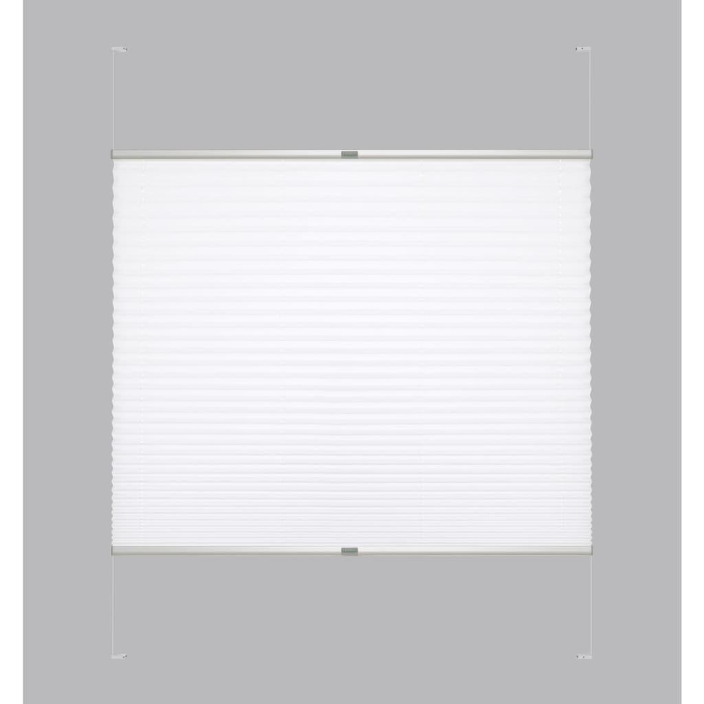 Good Life Dachfensterplissee nach Mass »Dena Crushed«, Lichtschutz, mit Bohren, verspannt, Crushed-Optik, Schienenfarbe in silber