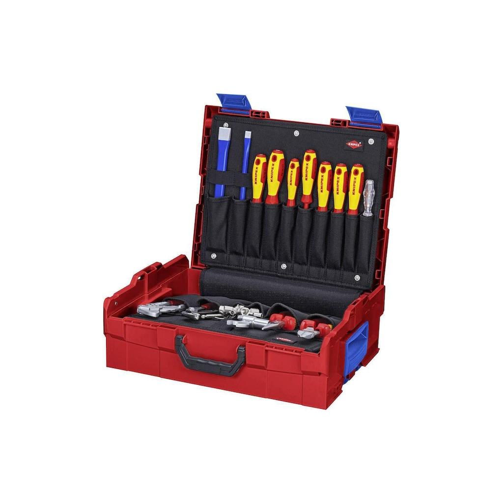 Knipex Werkzeugset »Werkzeugkoffer L-BOXX Sanitär 52-teilig«