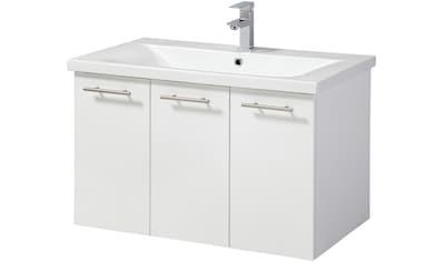 welltime Waschtisch »Lugo«, Breite 80 cm, 3 Türen kaufen