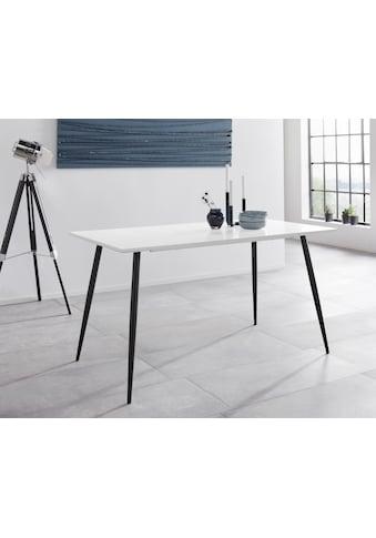 INOSIGN Esstisch »Dino«, mit einer folierten Tischplatte, schwarze Metallbeine, in... kaufen