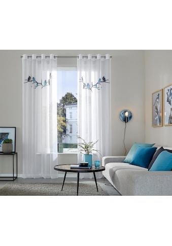 Gardine, »Eisvogel«, Guido Maria Kretschmer Home&Living, Ösen 2 Stück kaufen