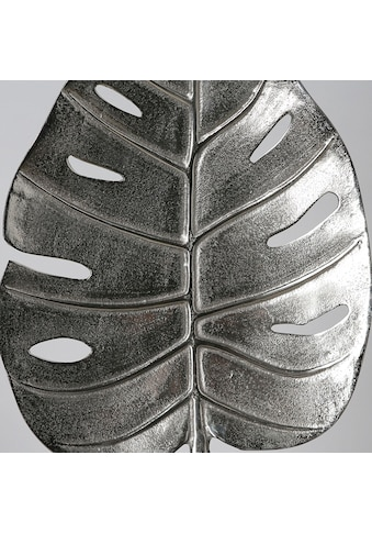 GILDE Dekoobjekt »Skulptur Leaf, antik silberfarben«, Höhe 40 cm, aus Metall, Blatt... kaufen