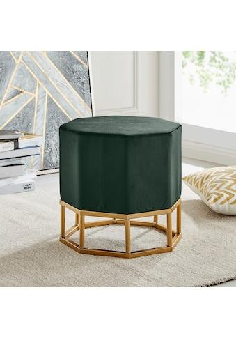 Leonique Hocker »Isha«, mit einem schönen goldfarbenen Metallgestell, Breite 42 cm kaufen