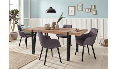 Essgruppe »Sanchez und Bradford«, (Set, 5 tlg.), mit Tisch, Breite 180 cm kaufen