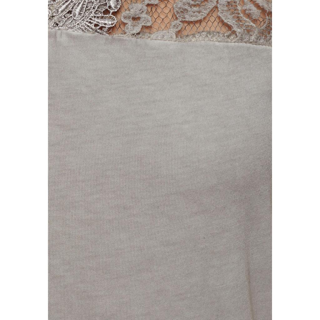 Aniston CASUAL T-Shirt, mit Spitze