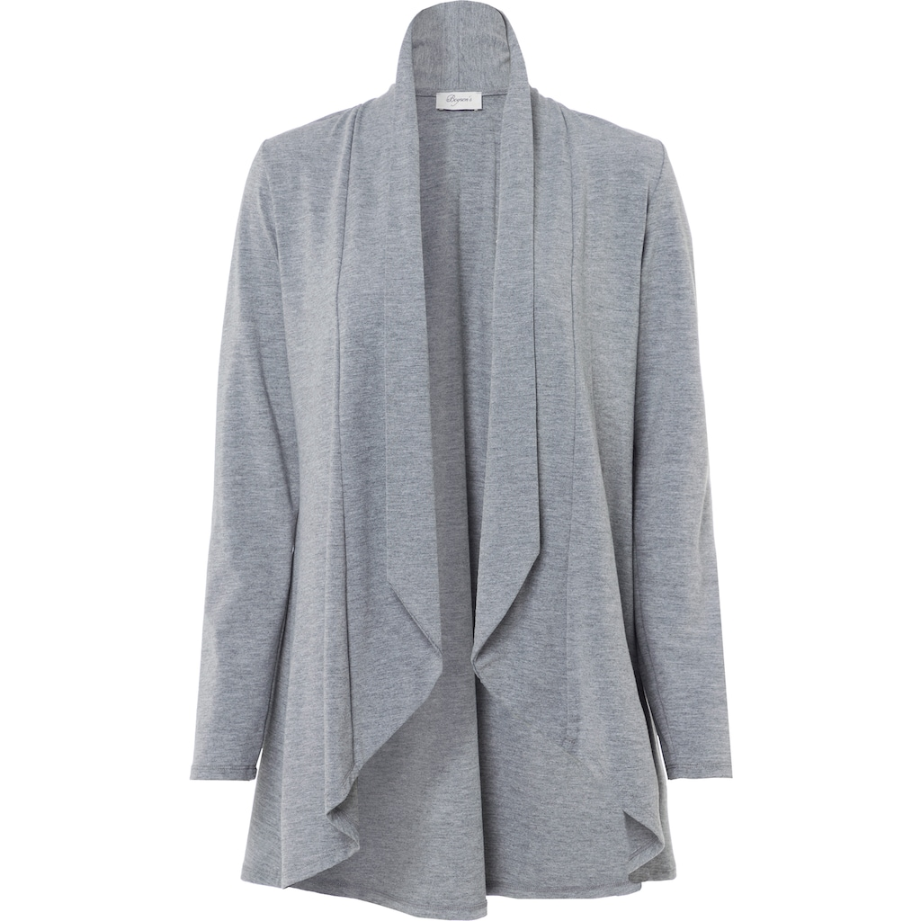 Boysen's Shirtjacke, in langer Vokuhila-Form