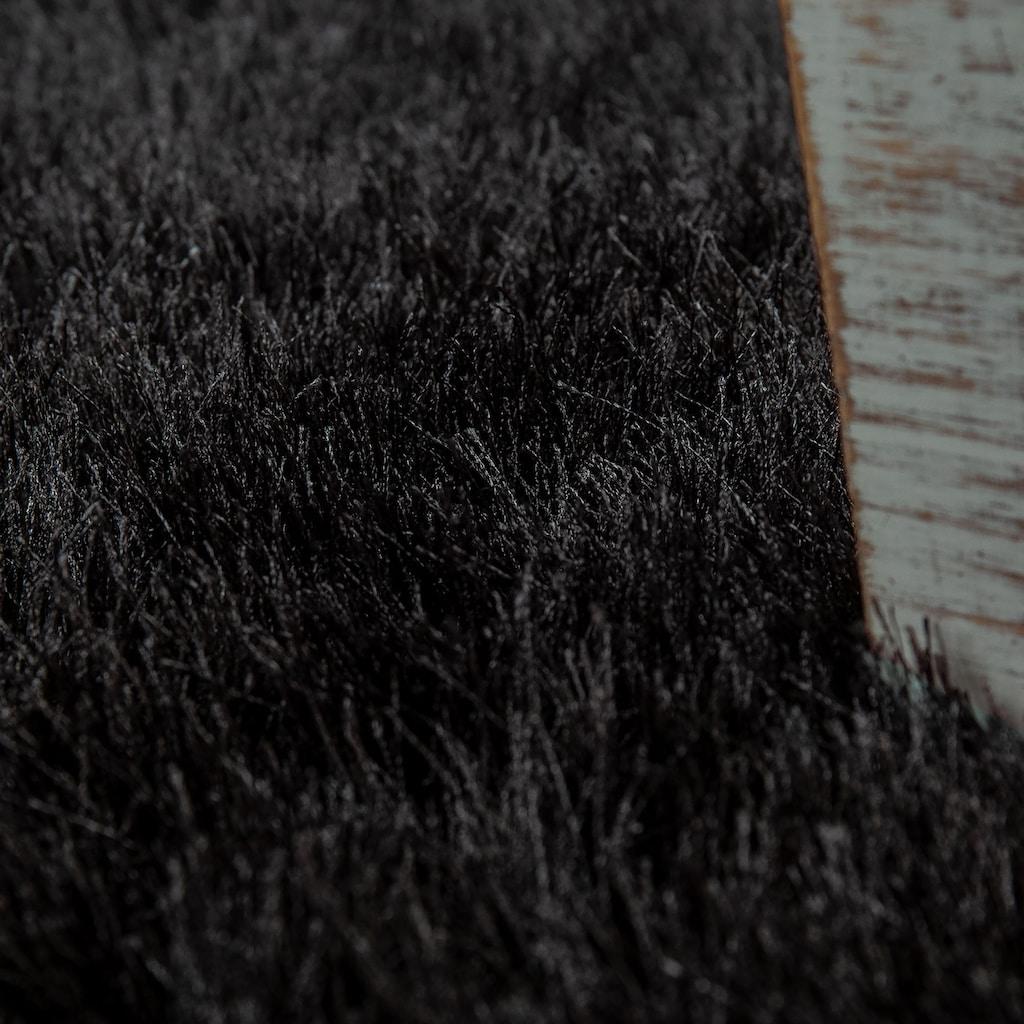 Paco Home Hochflor-Teppich »Glamour 300«, rechteckig, 70 mm Höhe, Shaggy mit weichem Glanz Garn, Uni Farben, Wohnzimmer, Kundenliebling mit 4,5 Sterne-Bewertung!