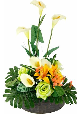 Kunstpflanze »Arrangement Calla/Blüten 56/33 cm« (1 Stück) kaufen