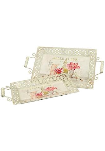 Ambiente Haus Tablett »Fleur-Tablett 2er Set«, (1 tlg.) kaufen