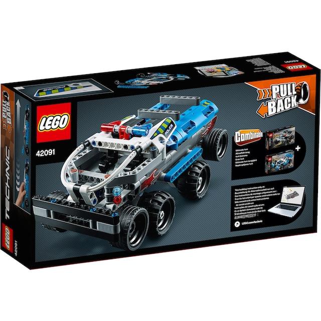 "LEGO® Konstruktionsspielsteine ""Polizei-Verfolgungsjagd (42091), LEGO® Technic"", Kunststoff, (120-tlg.)"