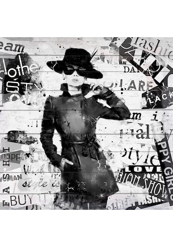 QUEENCE Holzbild »Zeitschrift Mode«, 40x40 cm Echtholz kaufen