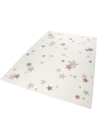 Esprit Kinderteppich »Jonne«, rechteckig, 13 mm Höhe, Sterne in pastell Farben kaufen