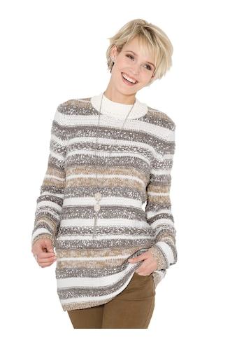 Classic Basics Pullover mit farbharmonischen Streifenmuster kaufen