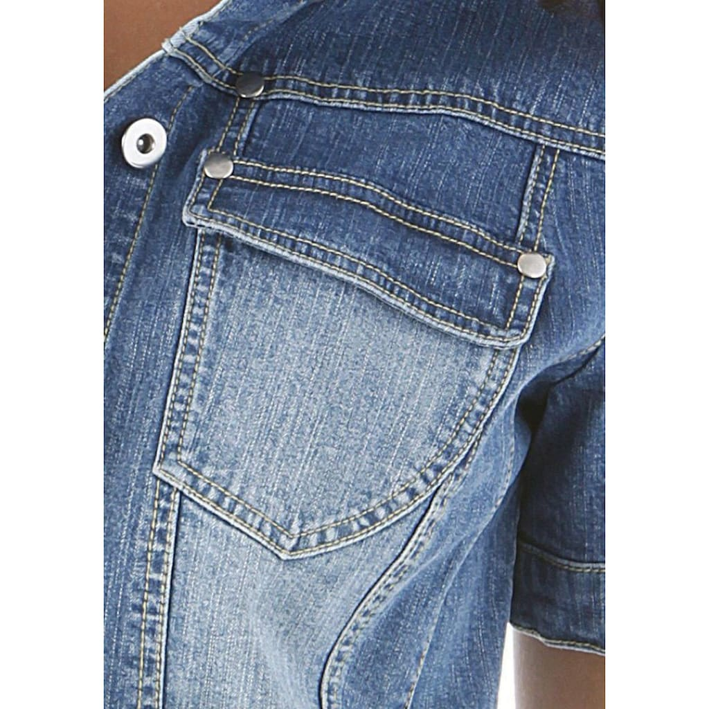 Aniston CASUAL Jeansjacke, in Used-Washung