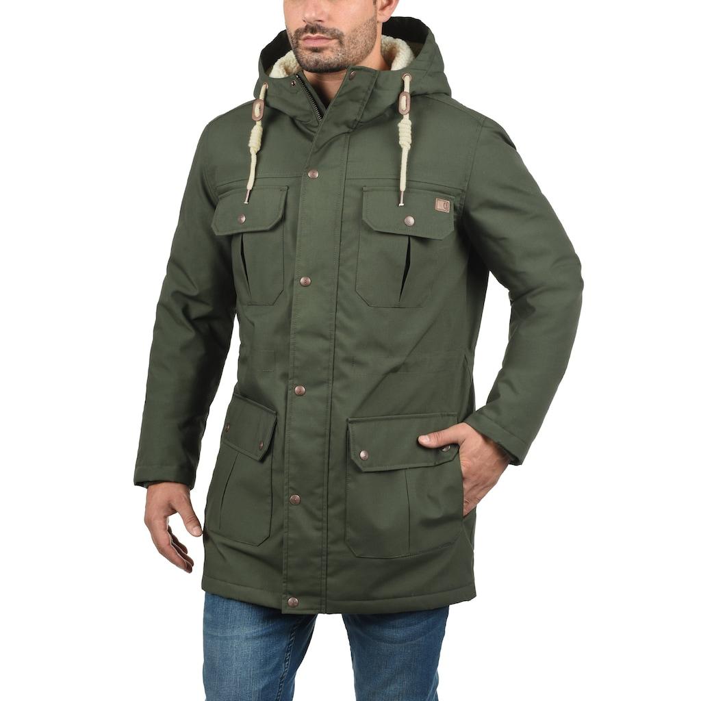 Solid Winterjacke »Chara Teddy«, warme Jacke mit Teddyfutter in der Kapuze und im Oberkörperbereich