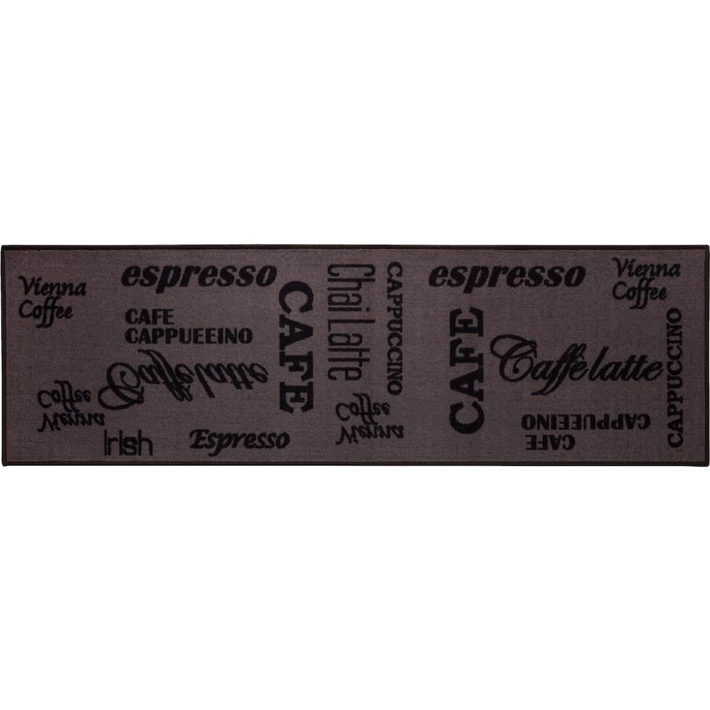 Andiamo Küchenläufer »Espresso«, rechteckig, 5 mm Höhe, mit Schriftzug