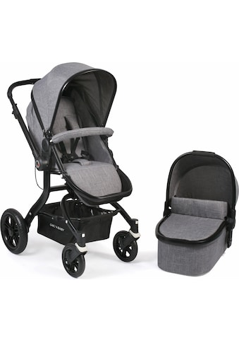 CHIC4BABY Kombi-Kinderwagen »Tano, grau«, 15 kg, ; Kinderwagen kaufen