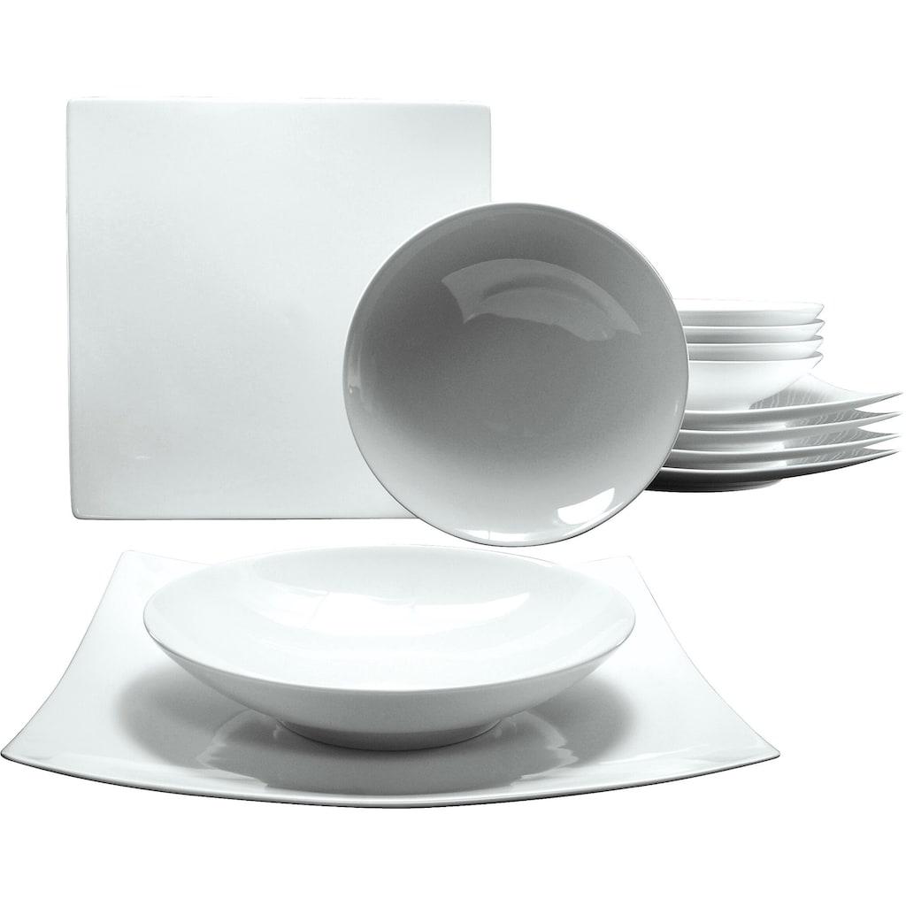 """CreaTable Tafelservice """"Elegance"""" (12-tlg.), Porzellan"""