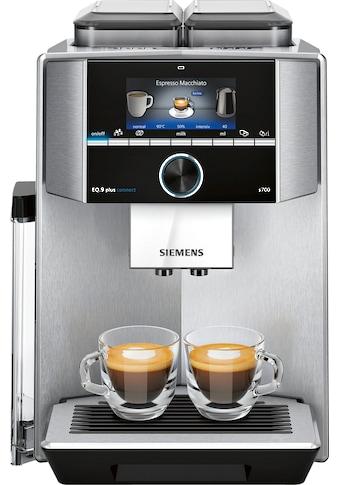 Kaffeevollautomat, Siemens, »EQ9plus S700 TI9575X1DE silberfarben« kaufen