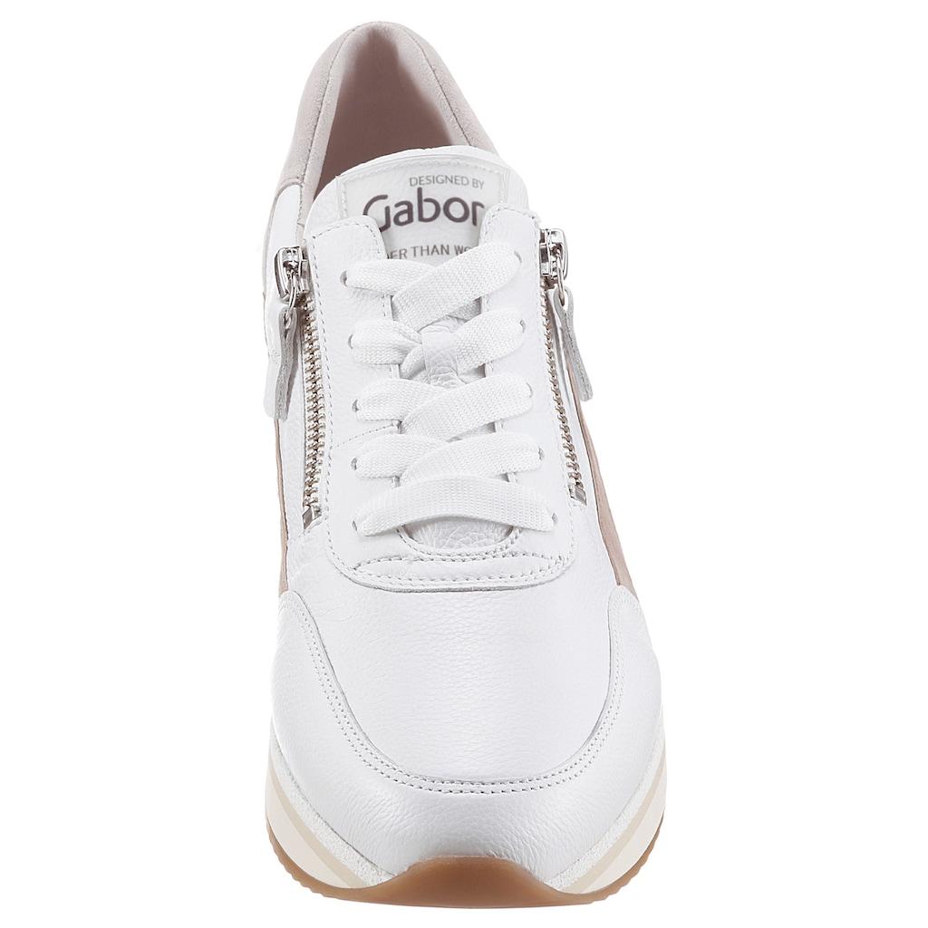 Gabor Keilsneaker, mit Logoschriftzug auf der Zunge
