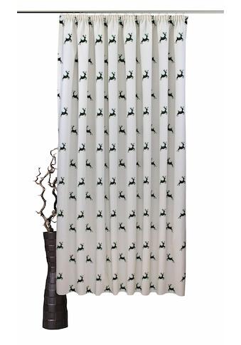 VHG Vorhang nach Mass »Hans Hirsch«, Leinenoptik, Breite 150 cm kaufen