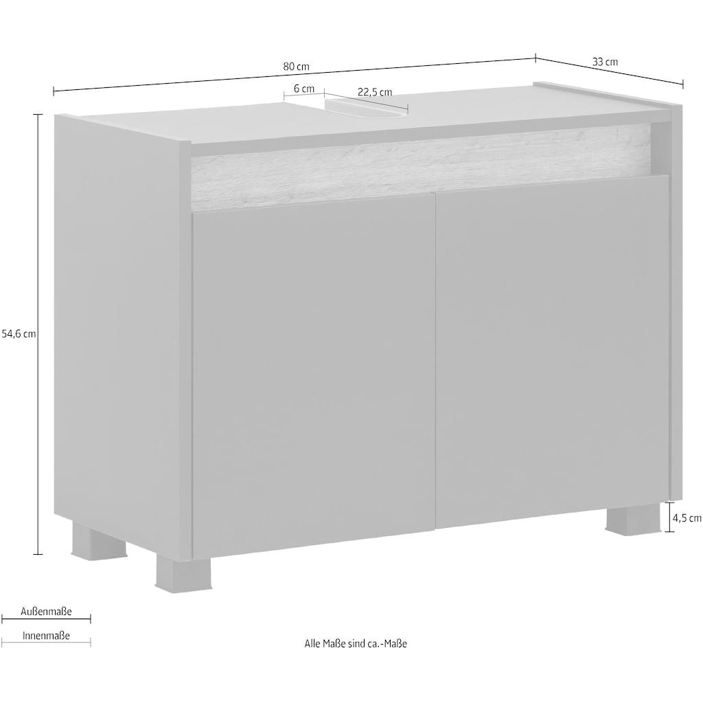Schildmeyer Waschbeckenunterschrank »Cosmo«, Breite 80 cm