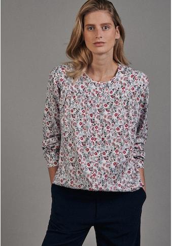seidensticker Shirtbluse »Schwarze Rose«, Langarm Rundhals Floral kaufen