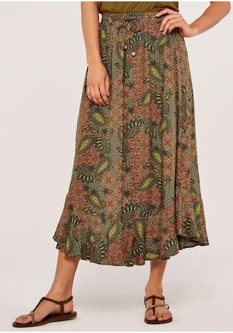 Apricot Maxirock »Paisley Enchant Curved Hem Skirt«, mit Smokbund kaufen