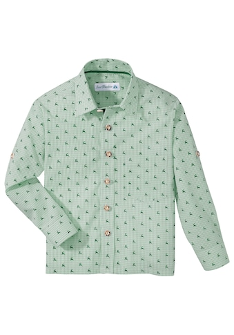 Isar - Trachten Trachtenhemd Kinder mit Hirschdruck acheter