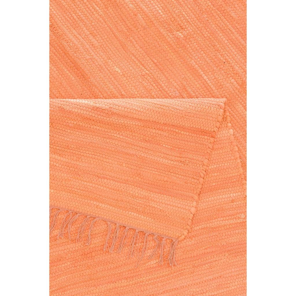 Lüttenhütt Läufer »Paul«, rechteckig, 5 mm Höhe, handgewebt, beidseitig verwendbar, mit Fransen