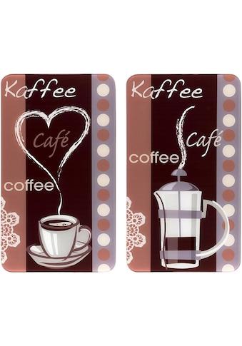 """WENKO Herd - Abdeckplatte """"Kaffeeduft"""", Glas, (Set) kaufen"""