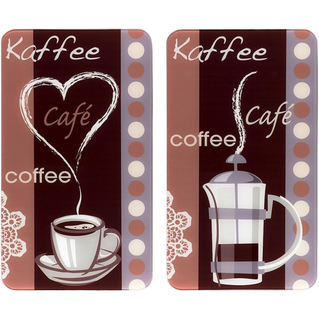 WENKO Herd-Abdeckplatte »Kaffeeduft«, Spezialfüße
