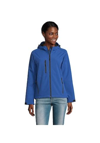 SOLS Softshelljacke »Damen Replay Softshell-Jacke mit Kapuze, atmungsaktiv, winddicht,... kaufen