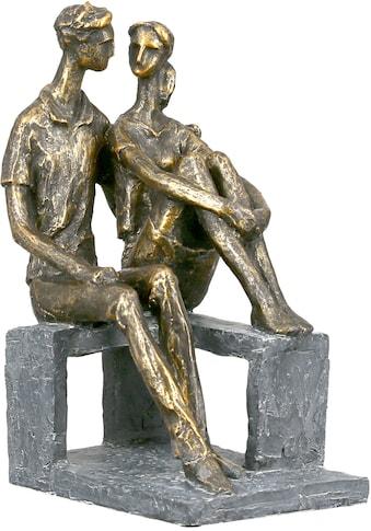 Casablanca by Gilde Dekofigur »Skulptur Small talk, bronzefarben«, Dekoobjekt, Höhe... kaufen