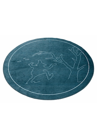 grimmliis Kinderteppich »Märchen 4«, rund, 2 mm Höhe, Motiv Rumpelstilzchen, Kinderzimmer kaufen