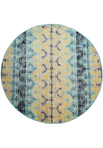 Teppich, »Artigo 417«, Paco Home, rund, Höhe 4 mm, maschinell gewebt kaufen