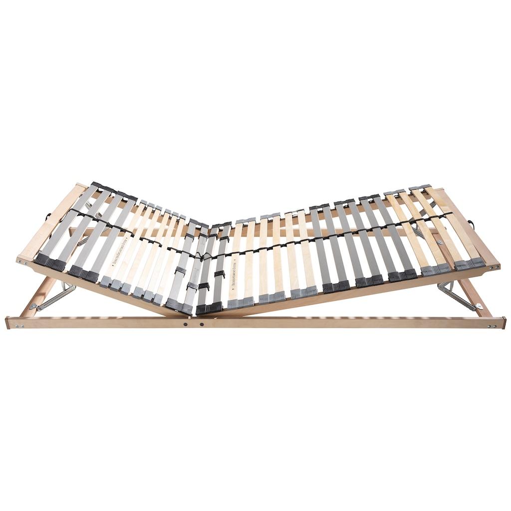BeCo EXCLUSIV Lattenrost »Optima LR-KF«, 30 Leisten, Kopfteil manuell verstellbar, Kopf- und Fussteil sowie Härte einstellbar