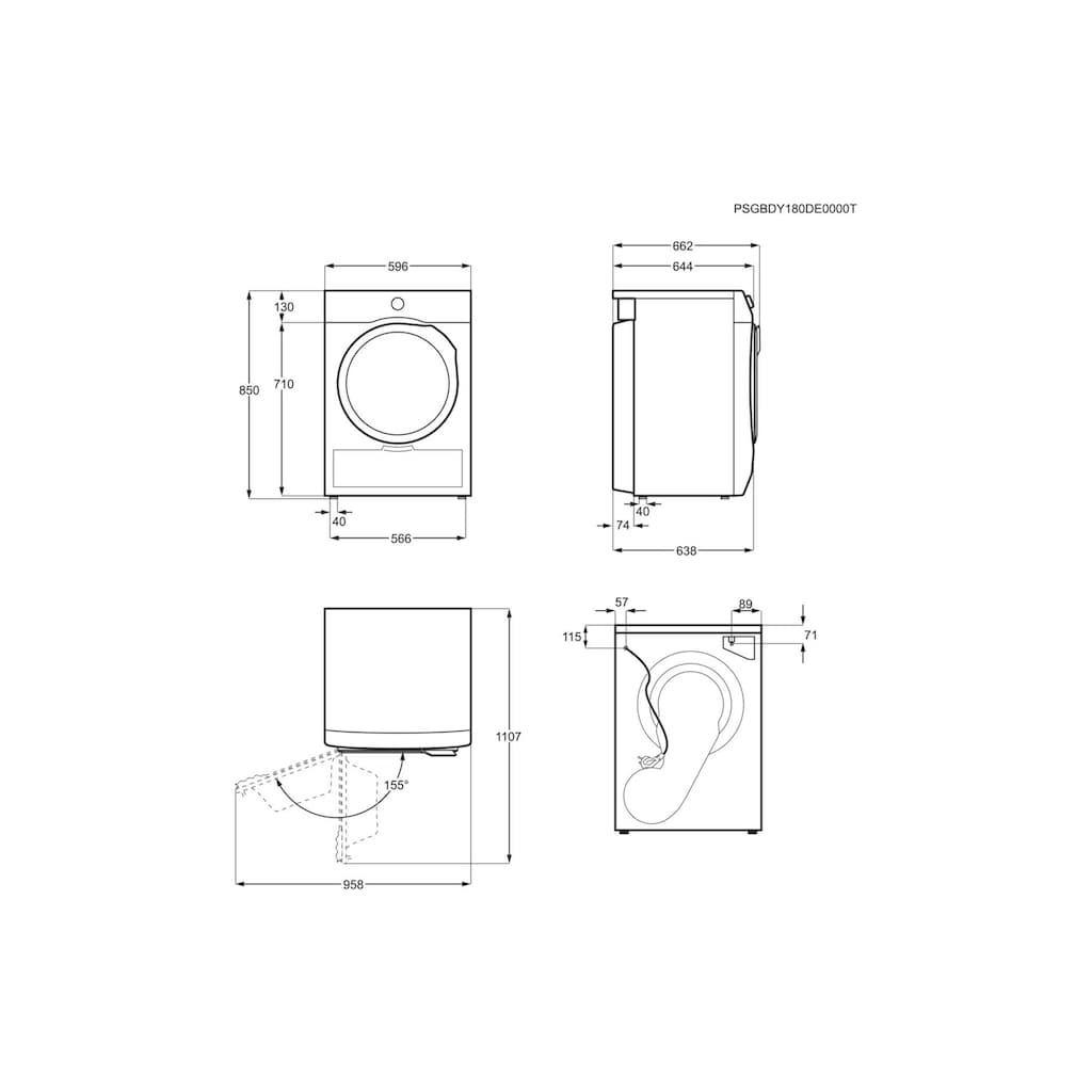 AEG Wärmepumpentrockner »TB5051TW A++«