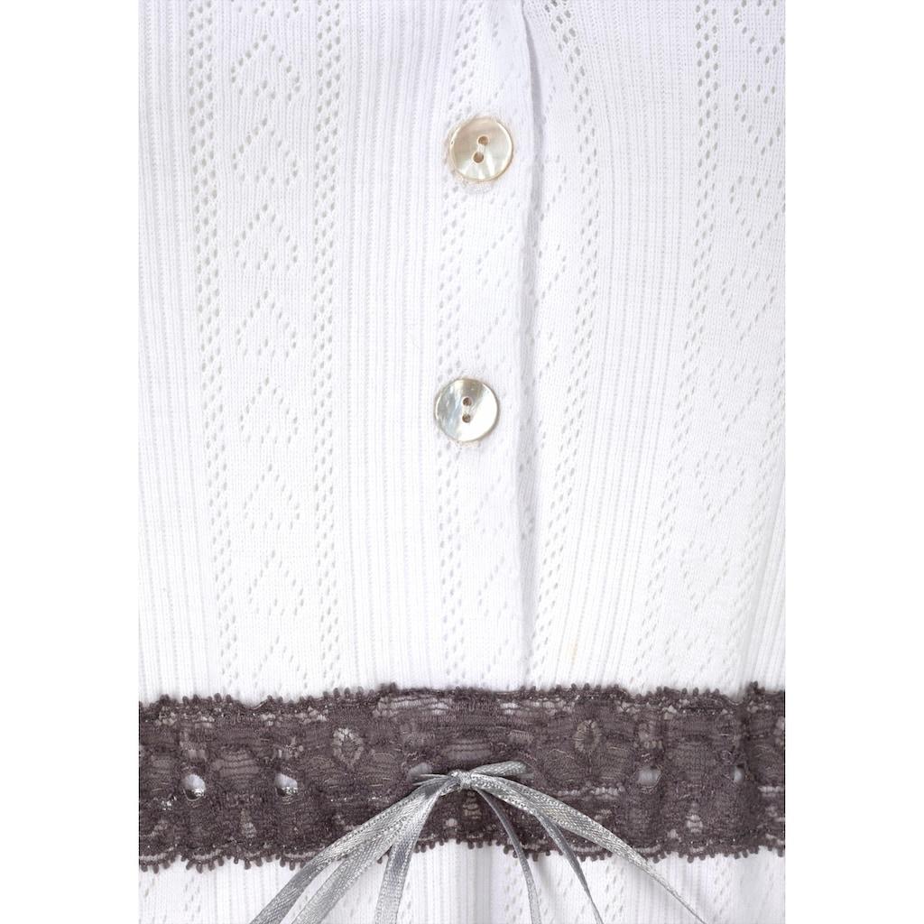LASCANA Sleepshirt, mit Spitzendetails