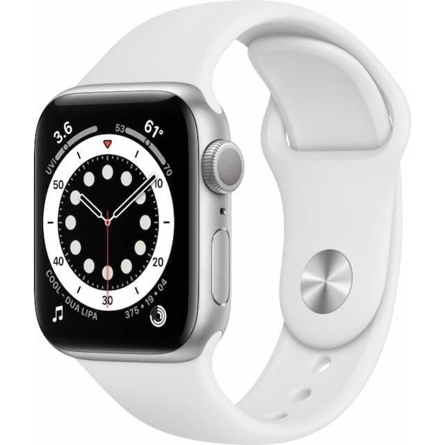 Apple Smartwatch »Watch Series 6 GPS, Aluminium Gehäuse, 40 mm mit Sportarmband«, (Watch OS)