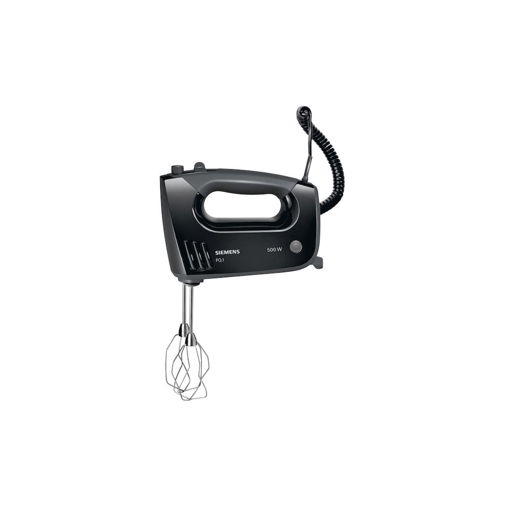 SIEMENS Handmixer »MQ96580 Schwarz«, 500 W, Hacken, Kneten, Kräuter- und Gewürzhacker, Mixen, Pürieren