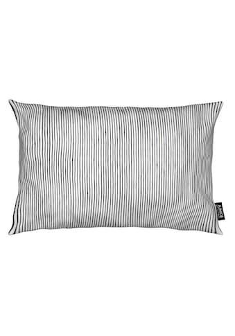 Juniqe Dekokissen »Watercolor Stripes«, Weiches, allergikerfreundliches Material kaufen