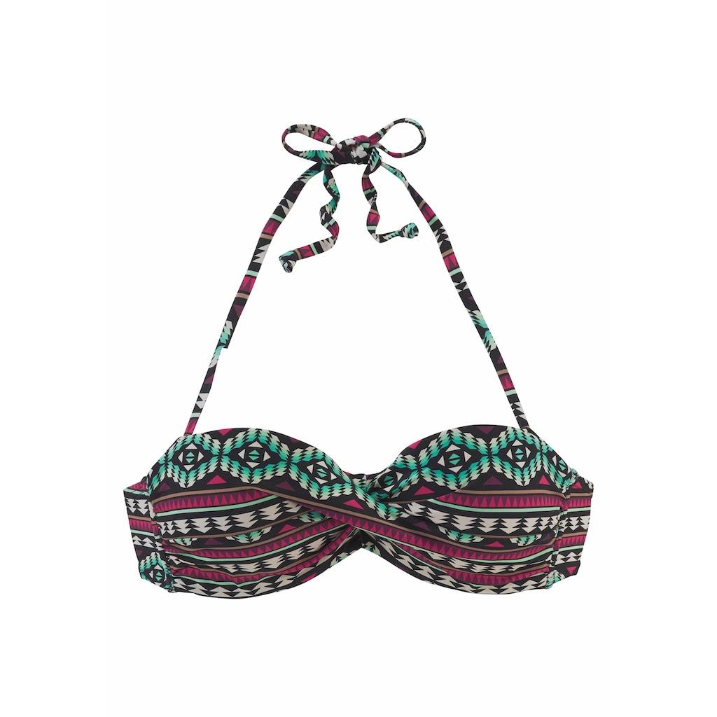 LASCANA Bandeau-Bikini-Top »June«, in Wickeloptik