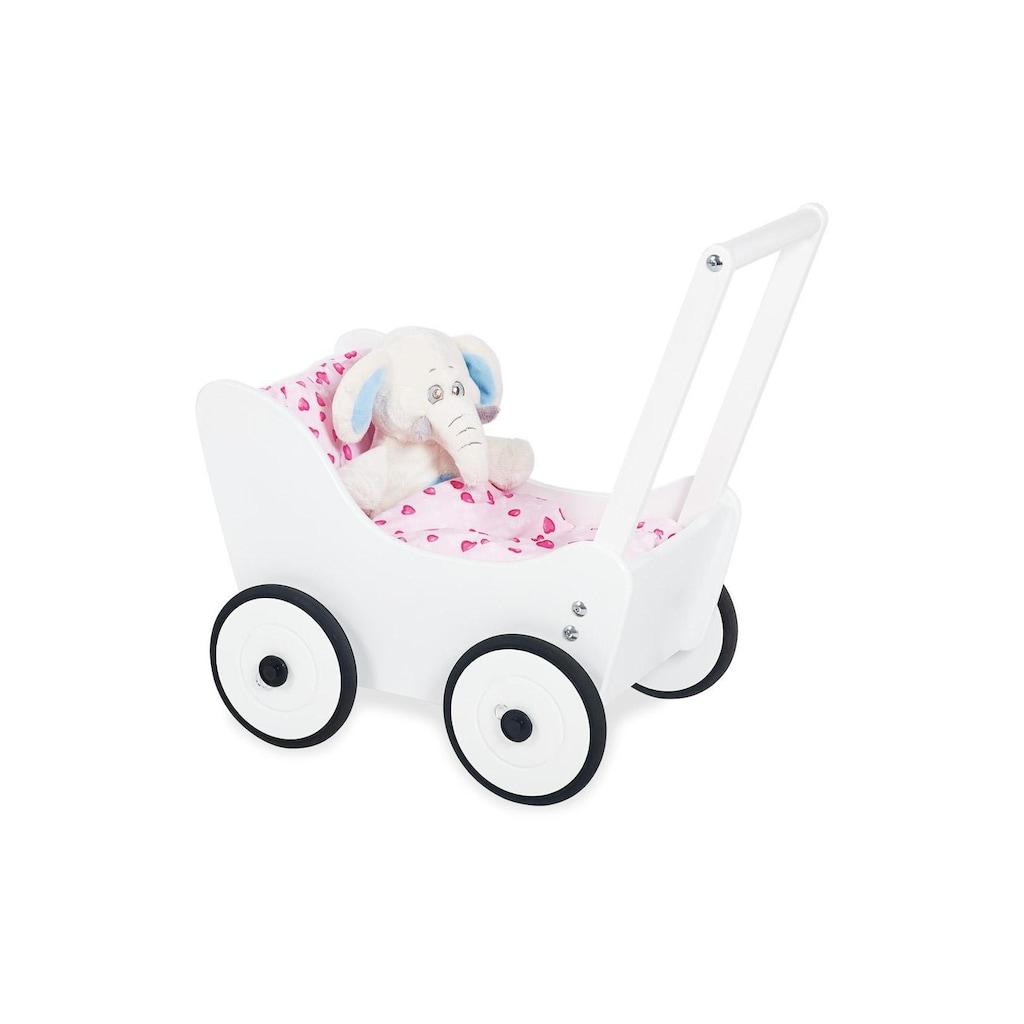Pinolino® Puppenwagen »Maria Weiss«, Höhenverstellbarer Griff