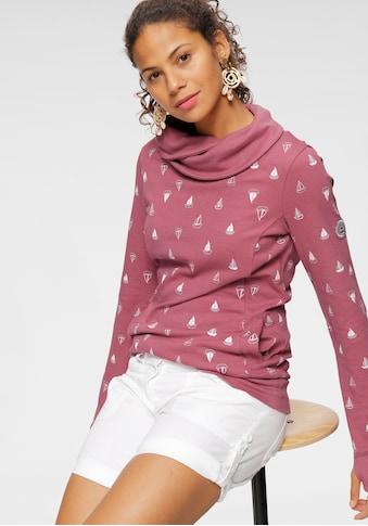 KangaROOS Sweatshirt, mit wärmendem Schlauchkragen und Allover-Print kaufen