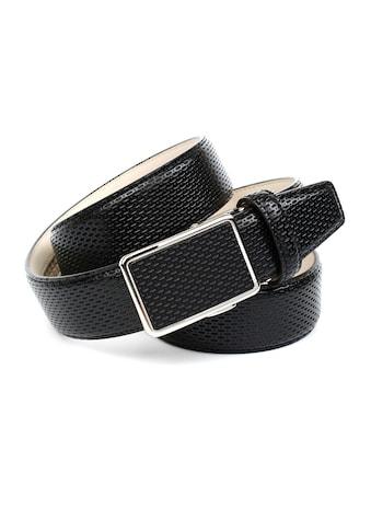 Anthoni Crown Ledergürtel, Edler Herrengürtel mit perforiertem Leder kaufen